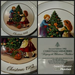 """Avon 1982 """"Keeping the Christmas Traditions"""" Plate"""